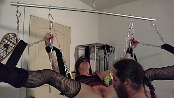 rhianna chained up in swing sunny leone prone pt 1