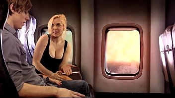 sister fifi foxx wwwdesibaba gives brother aiden valentine a bj on airplane