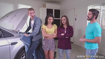 brazzers - step litorotica sisters share cock behind dads back