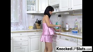 pretty and pregnant babe gets fucked in noty amerika com the kitchen