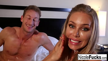 hot nicole shoots with a hot stud bang you later while playing on social media