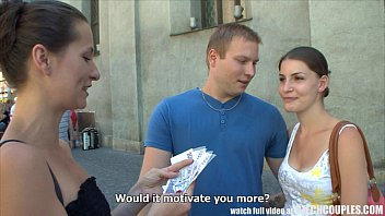 czech couples young couple takes money for 3movis public foursome