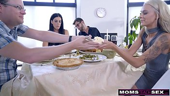 mom fucks son and eats teen creampie noty amarica for thanksgiving treat