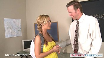 pigtailed nicole aniston suck u gizz cock in classroom
