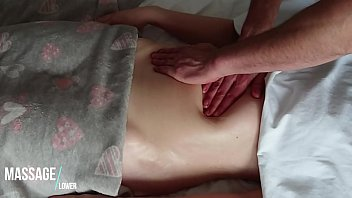 sensual and romantic hannah palmer nude massage of hot soft oiled belly