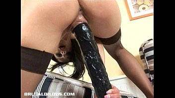 vicky swallows a b. ujizz dildo with her dripping wet pussy