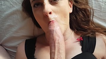 close up blowjob pronehub and cum on face