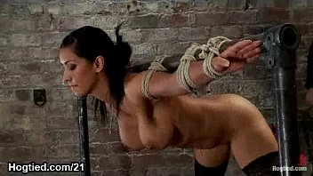 busty babe bound flogged katursex and vibed and face sprayed with cum