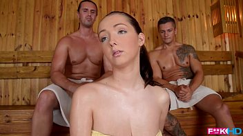 fuckinhd 21centurytube - lucie wilde hot fuck with 2 guys in the sauna