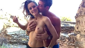 mypornsnap hot horny couple have quickie outdoors