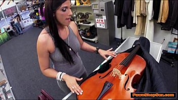 pronhud brazilian milf gives pawnshop owner a blowjob for excitement