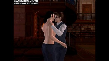 horny 3d yotubesexo cartoon hunk gets fucked in the library
