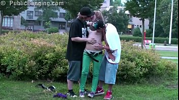 middle of a street public sex threesome with hot yoyporn blonde teen girl alexis crystal