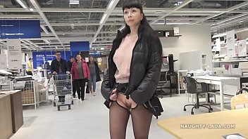 short skirt and sheer blouse for flashing and brazzer3x public upskirt